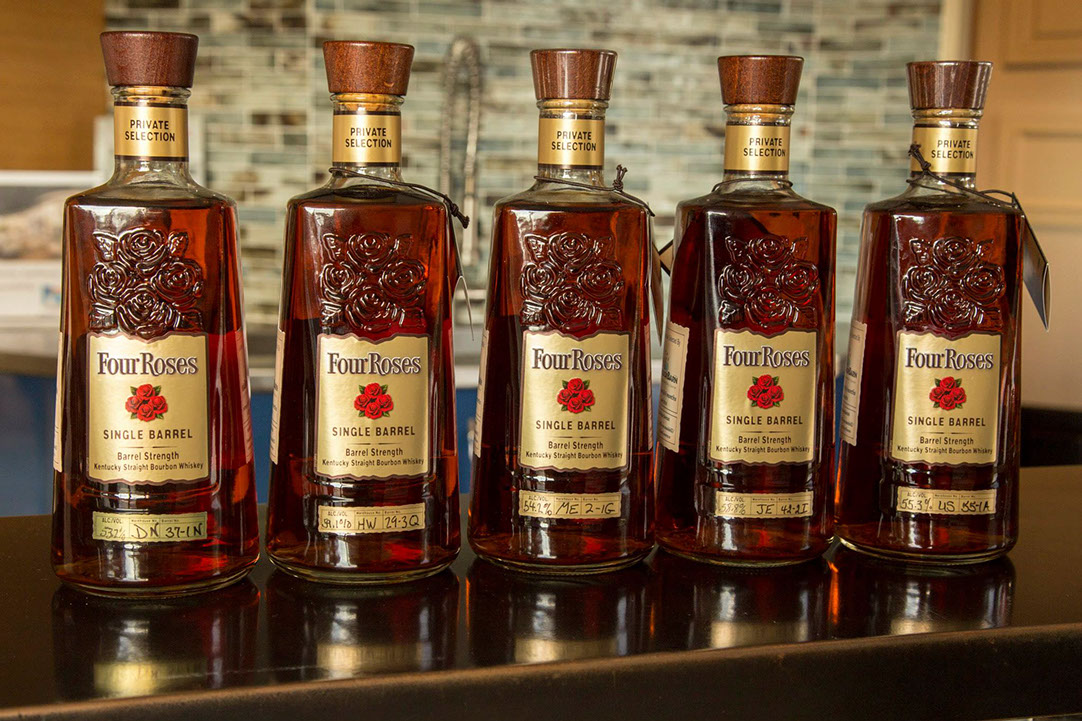 Four Roses Single Barrel Bottles Front