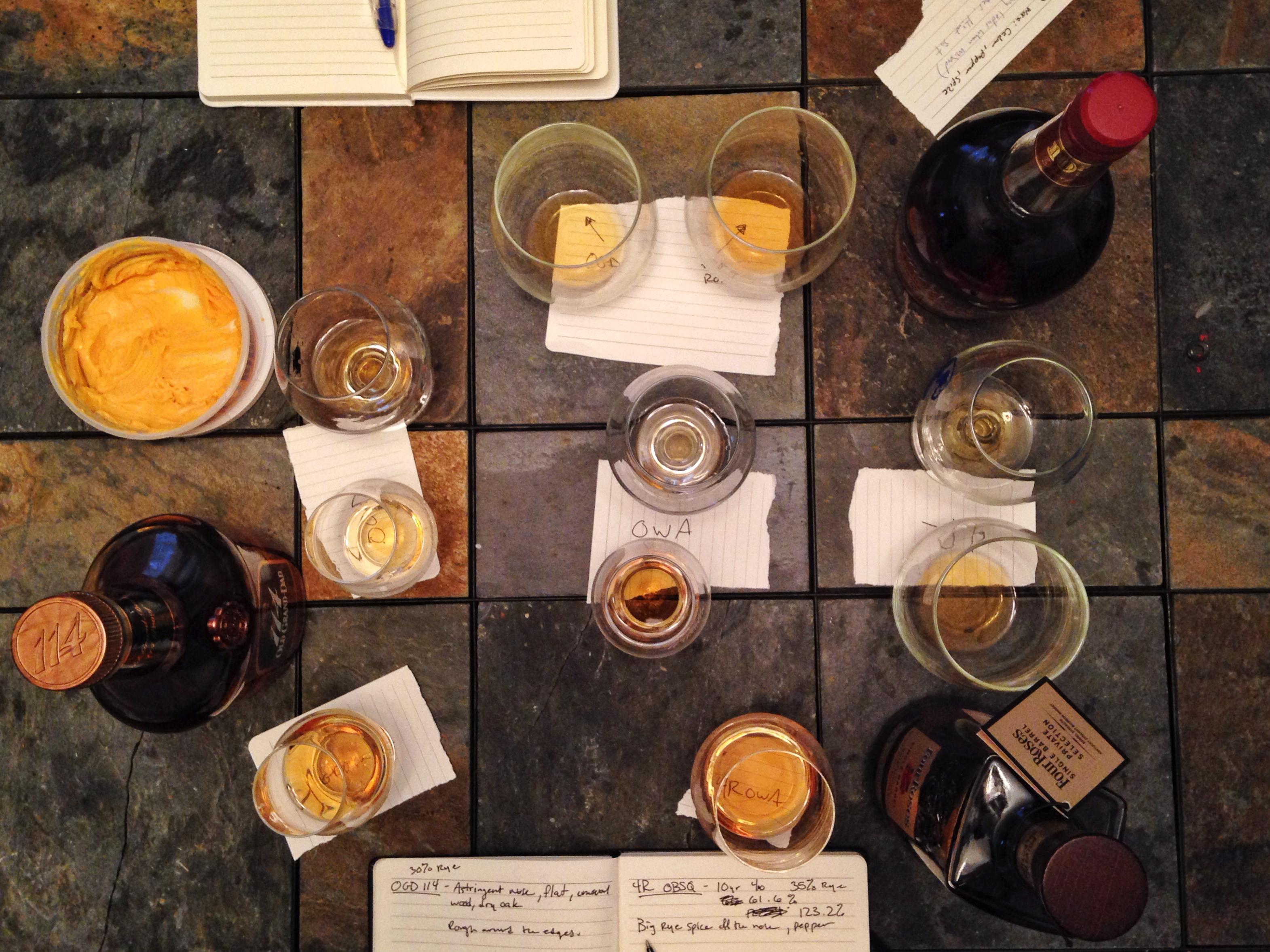 four grain bourbon blending