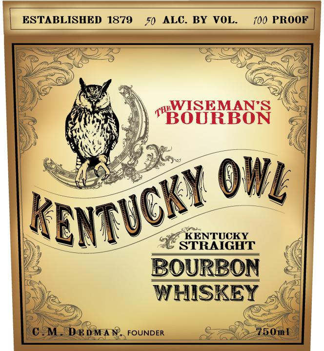 kentucky owl kentucky straight bourbon whiskey logo